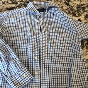 vineyard vines classic fit shirt blue white